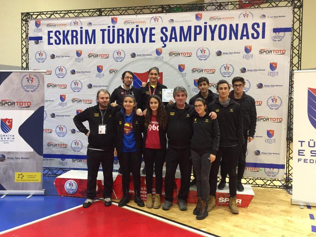 Çankaya Eskrim Türkiye Şampiyonası'ndan Madalyalar İle Ankara'ya Döndü
