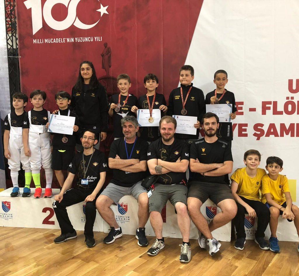 Türkiye Eskrim Şampiyonası'nda Çankaya Eskrim Rüzgarı Esti